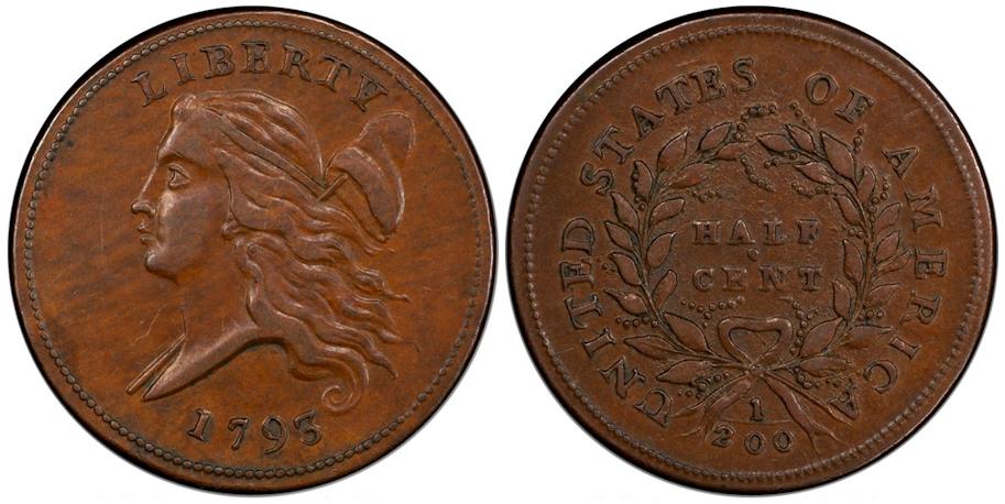 1793 Half Cent AU50 PCGS CAC