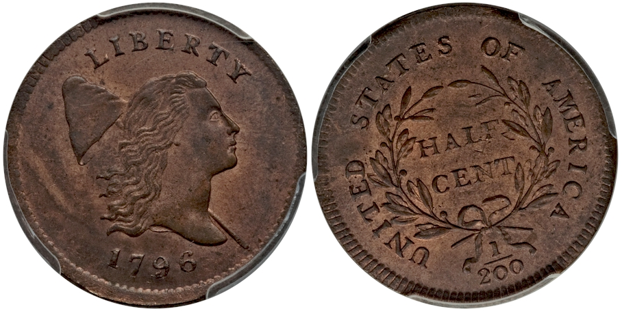 Half Cents 1796 With Pole RB
