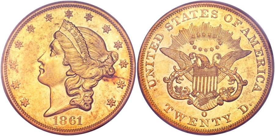 $20 Gold 1861 O
