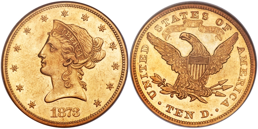 $10 Gold 1873