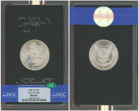 GSA Morgan Dollars 1883 CC