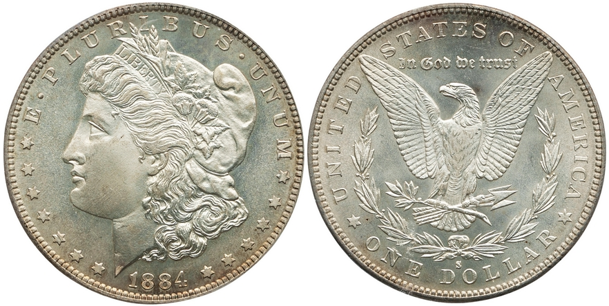 Morgan Dollars 1884 S