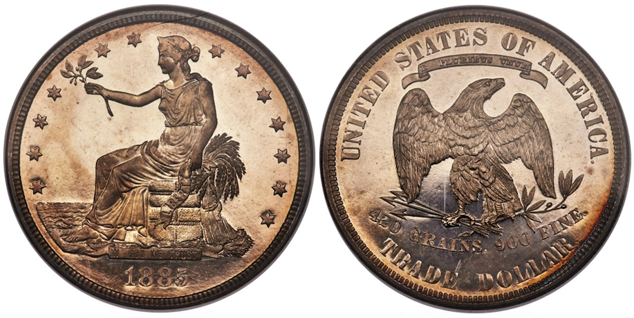 Trade Dollars 1885 Proof