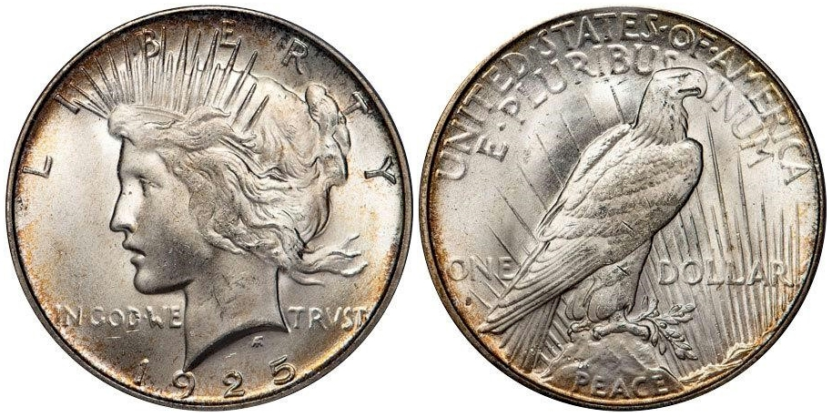 1925 S Peace Dollar PCGS MS65 CAC