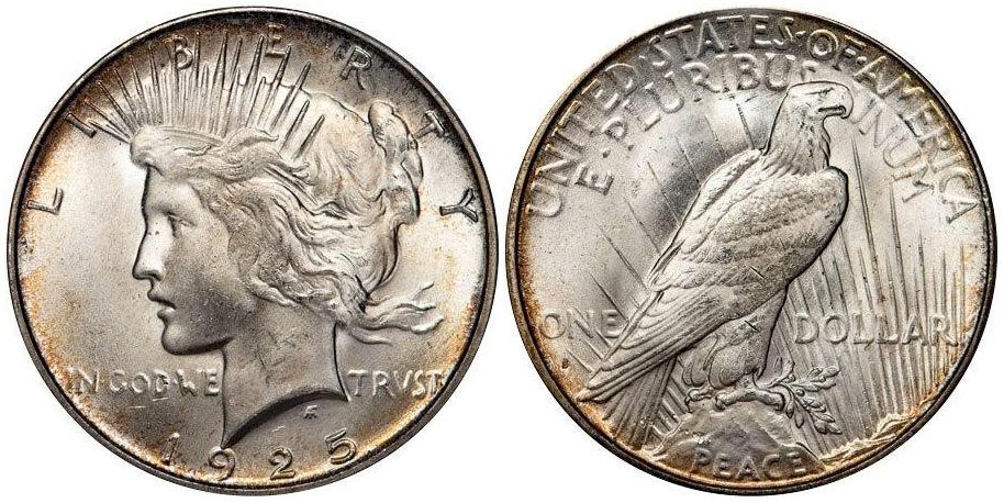 Peace Dollars 1925 S