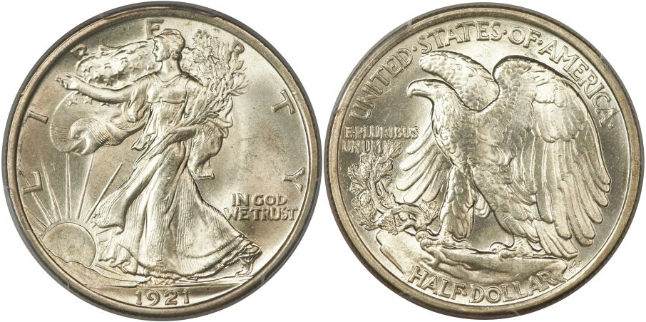 Walking Liberty Half Dollars 1921