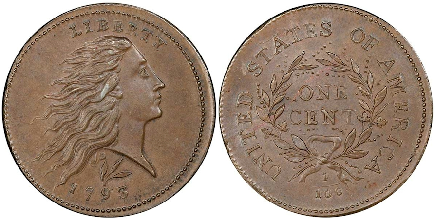 Large Cents 1793 Lettered Edge BN