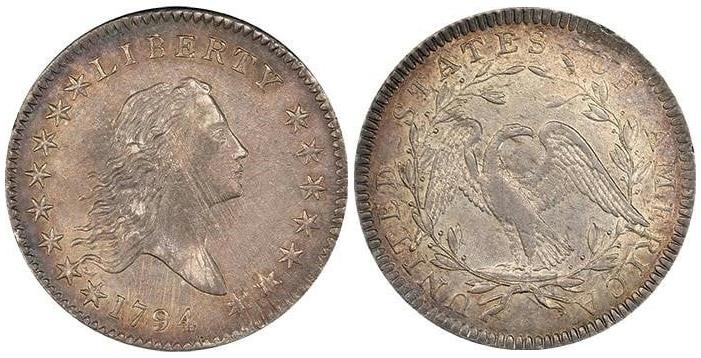 1794 Flowing Hair Half Dollar PCGS AU58 CAC