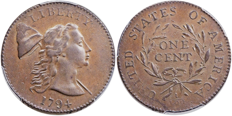 Large Cents 1794 Head of 1793 BN