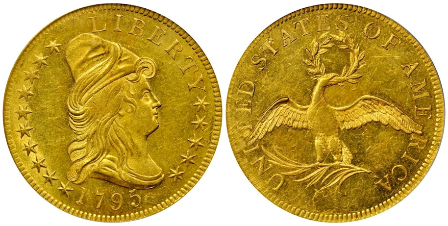 1795 $10 Gold Capped Bust 9 Leaves