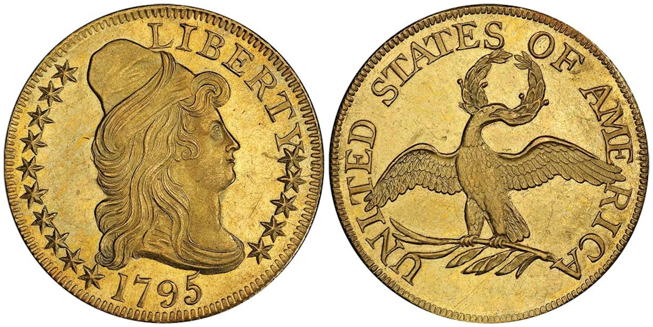 1795 $5 Gold Small Eagle PCGS MS62 CAC
