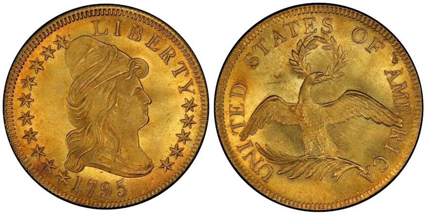 $10 Gold 1795 13 Leaves