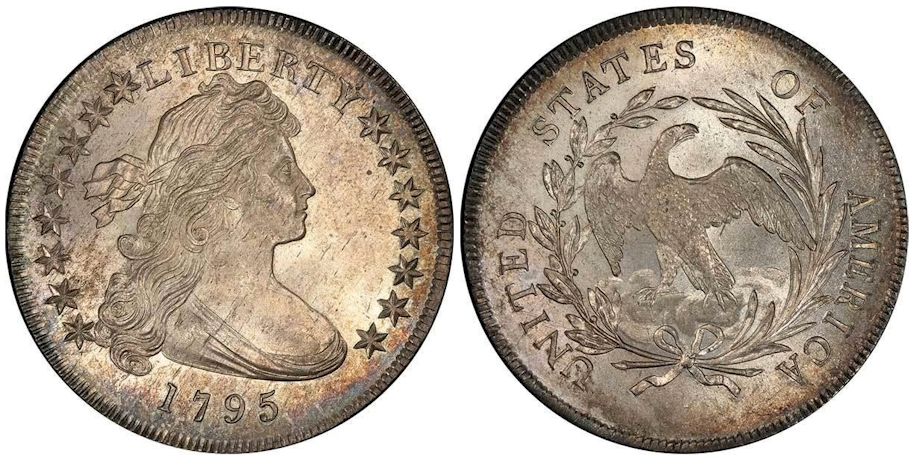 1795 Draped Bust Dollar Off-Center Bust PCGS MS66 CAC