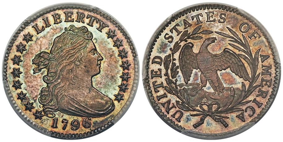 1796 Draped Bust Dime PCGS SP67