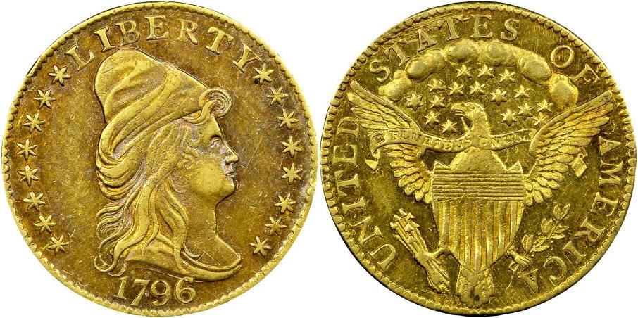 $2½ Gold 1796 Stars