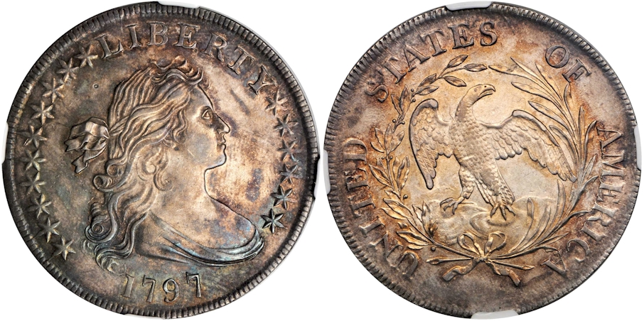 Early Dollars 1797 10x6 Stars