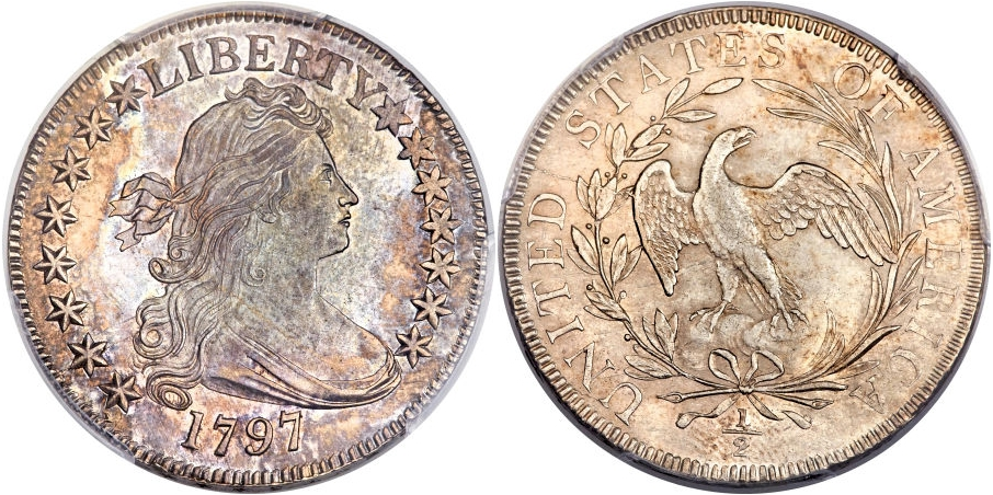 Early Half Dollars 1797 15 Stars