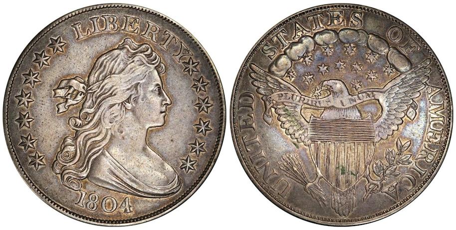 1804 Draped Bust Dollar, Class III Restrike Second Reverse, PR55 PCGS