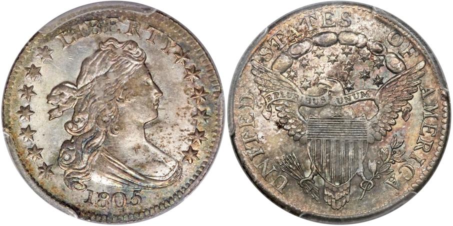 Bust Dimes 1805
