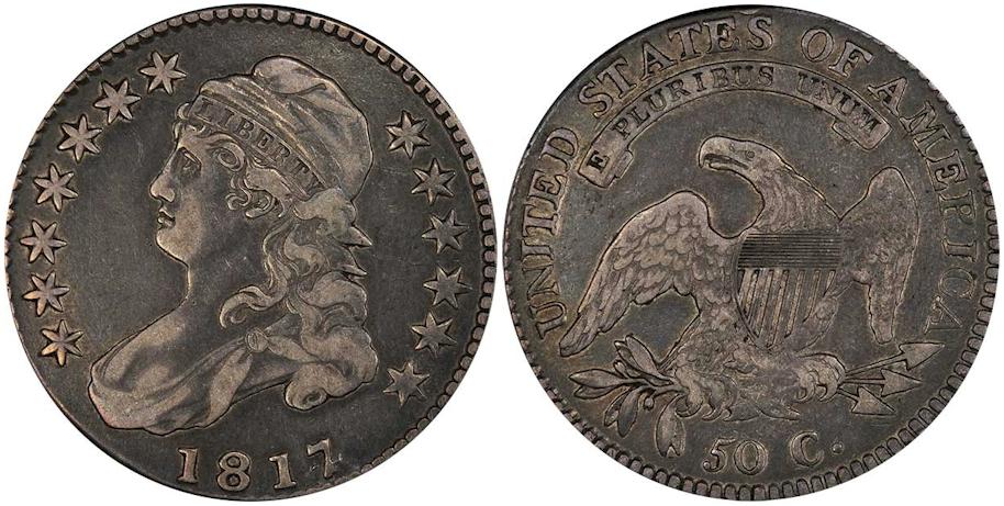 1817/4 Bust Half Dollar PCGS VF35