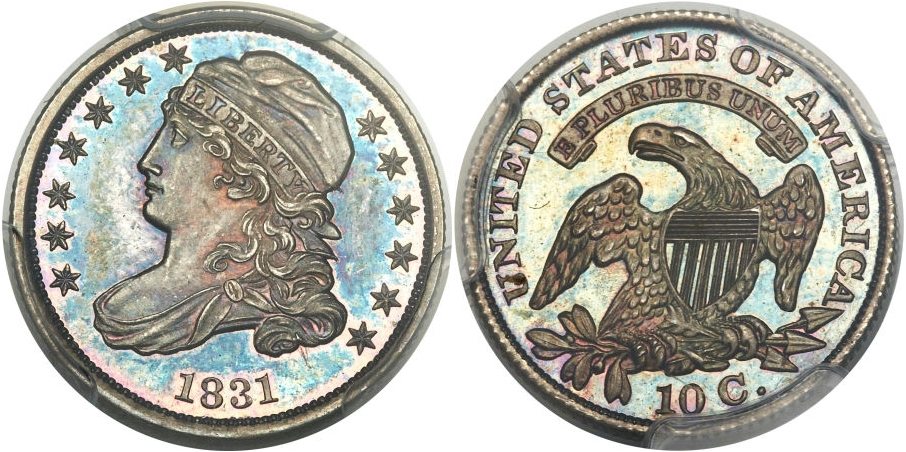 Bust Dimes 1831 Proof