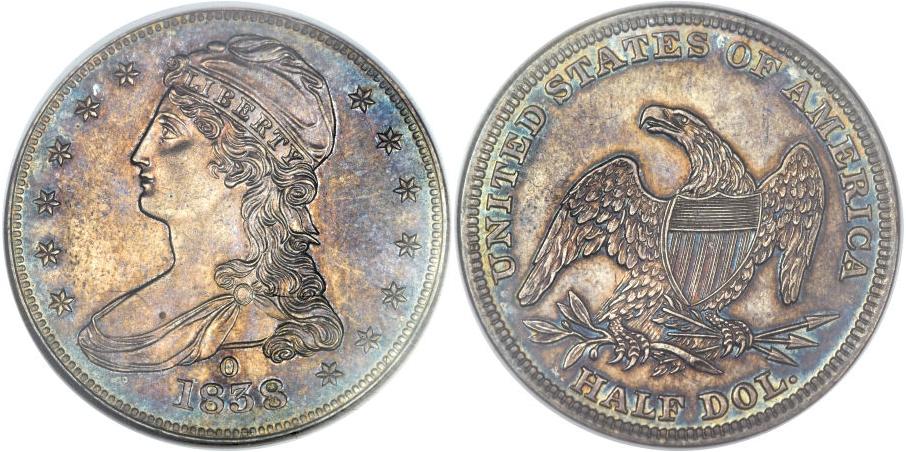 Bust Half Dollars 1838 O