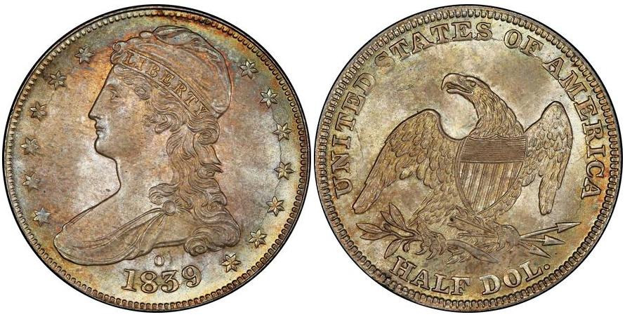 Bust Half Dollars 1839 O