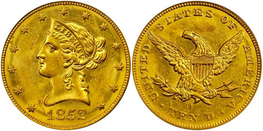 $10 Gold 1852 O