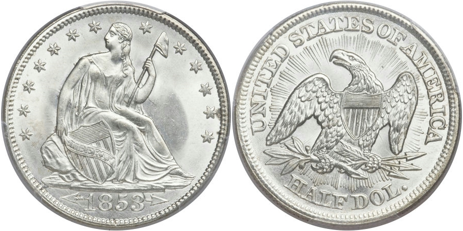 Liberty Seated Half Dollars Arrows & Rays Type