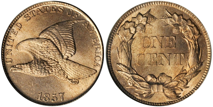 Flying Eagle Cents 1857