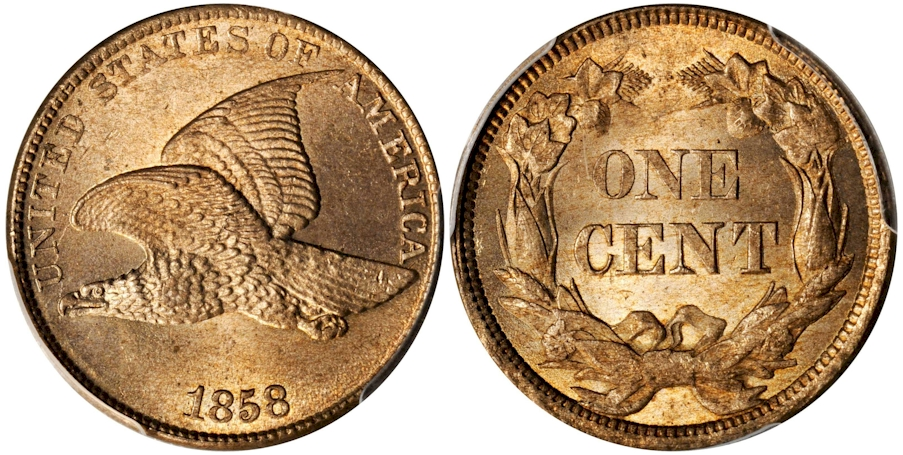Flying Eagle Cents 1858 Lg. Letters