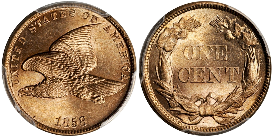 Flying Eagle Cents 1858 Sm. Letters
