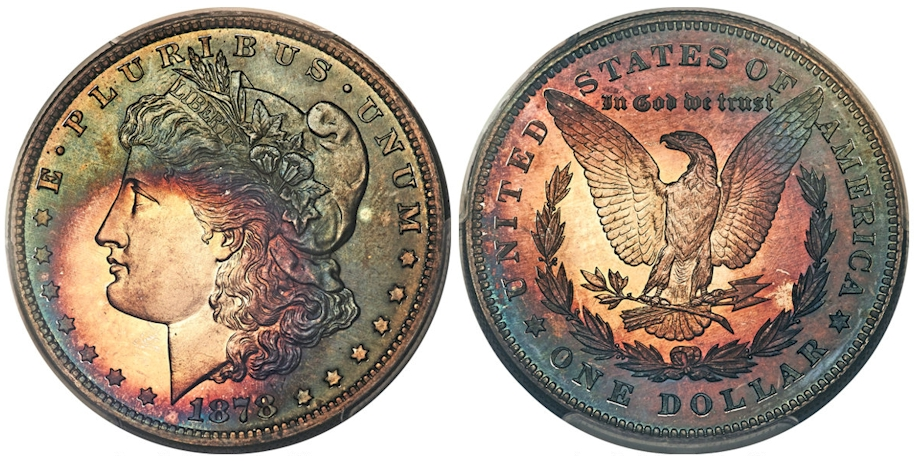 1878 7TF Morgan Dollar Reverse of 1878 PCGS PR67+ CAC