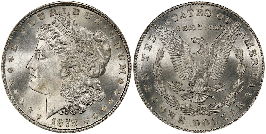 Morgan Dollars 1878 7TF