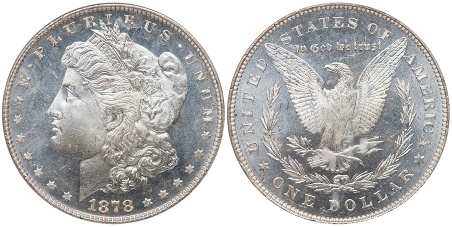DMPL Morgan Dollars 1878 7/8TF Str