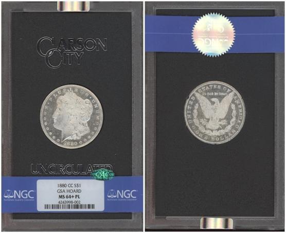 GSA Morgan Dollars 1880 CC Prooflike