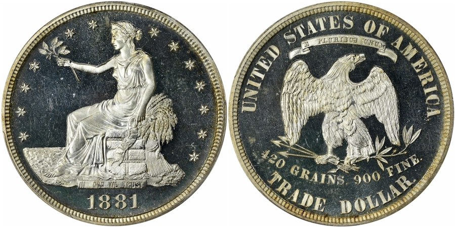 Trade Dollars 1881 Proof