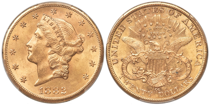 $20 Gold 1882 CC