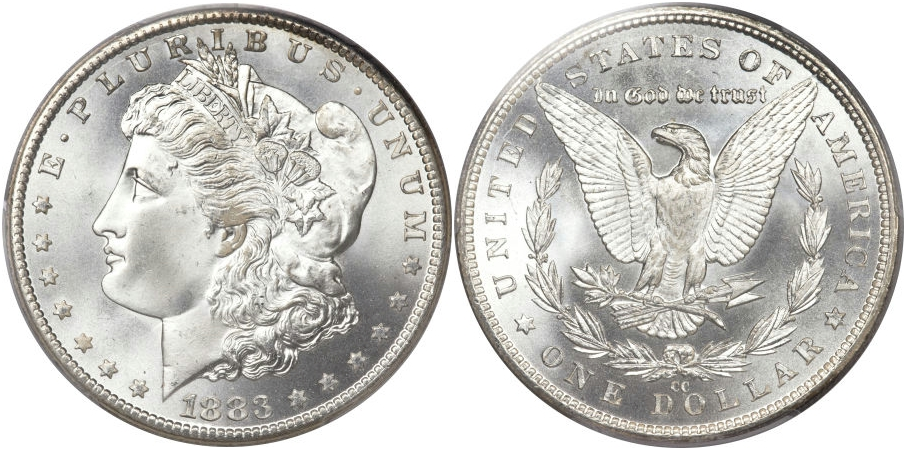 Morgan Dollars 1883 CC