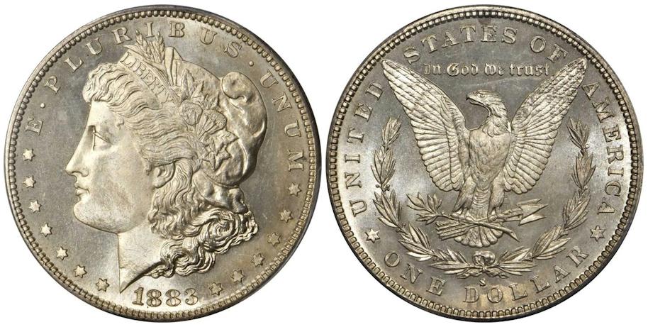 1883 S Morgan Dollar PCGS MS67+ P/L CAC