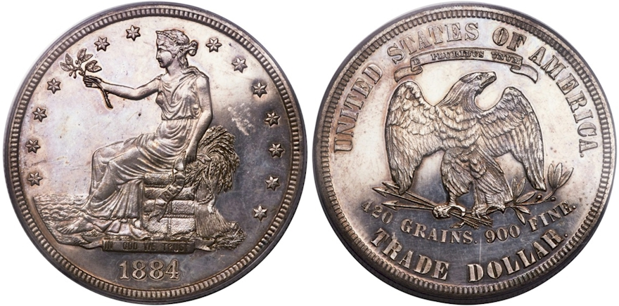 Trade Dollars 1884 Proof
