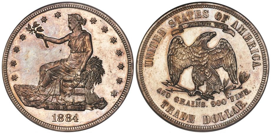 1884 Trade Dollar PCGS PR63