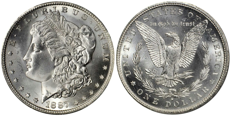 Morgan Dollars 1887 S