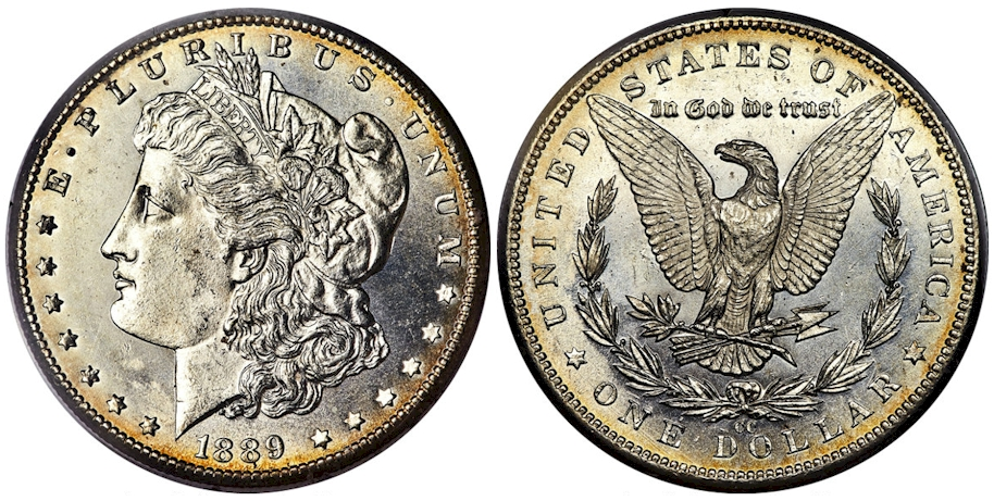 1889 CC Morgan Dollar PCGS MS62