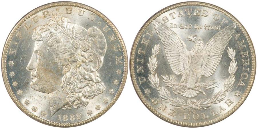 Morgan Dollars 1889 CC