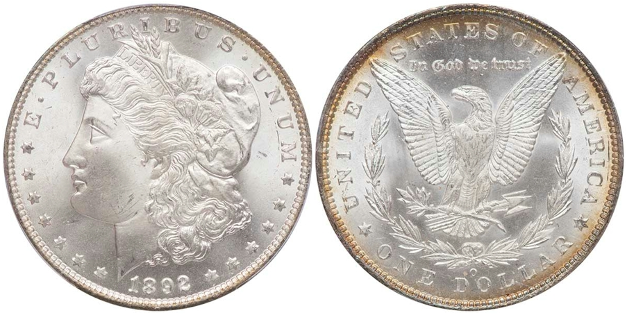 Morgan Dollars 1892 O