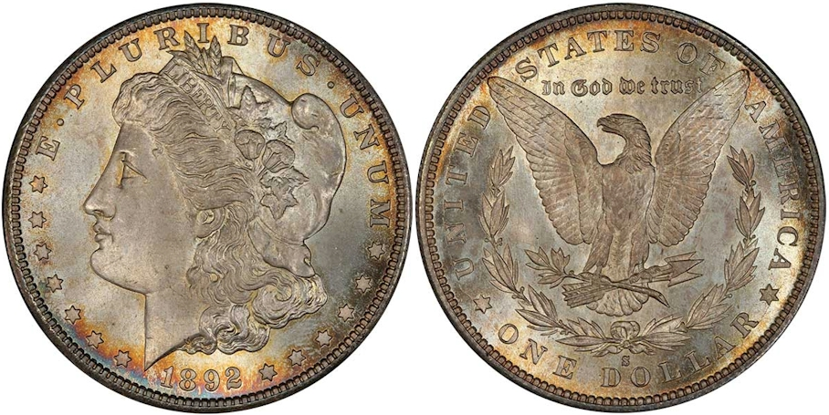 Morgan Dollars 1892 S