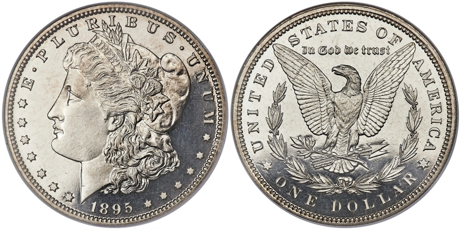 Proof Morgan Dollars 1895 Proof