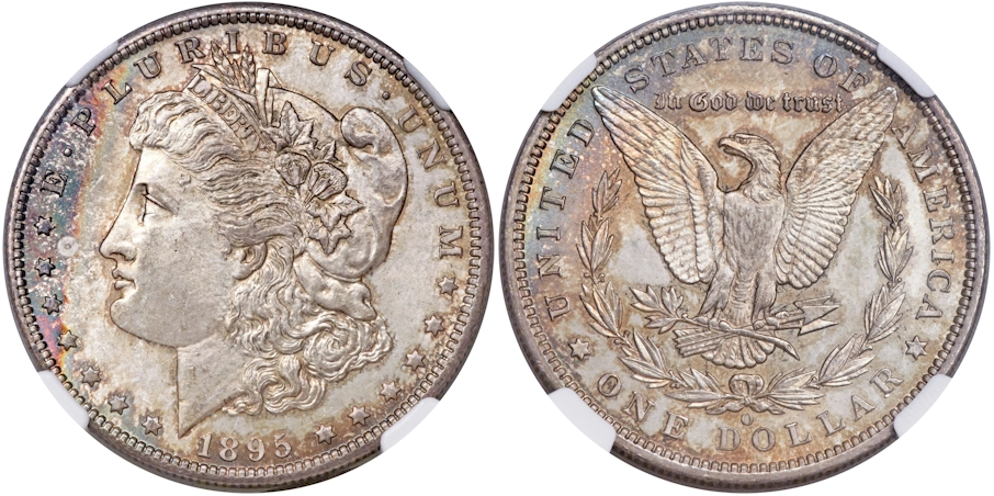 Morgan Dollars 1895 O