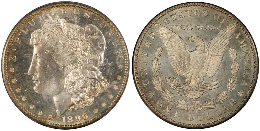 Proof Like Morgan Dollars 1896 S